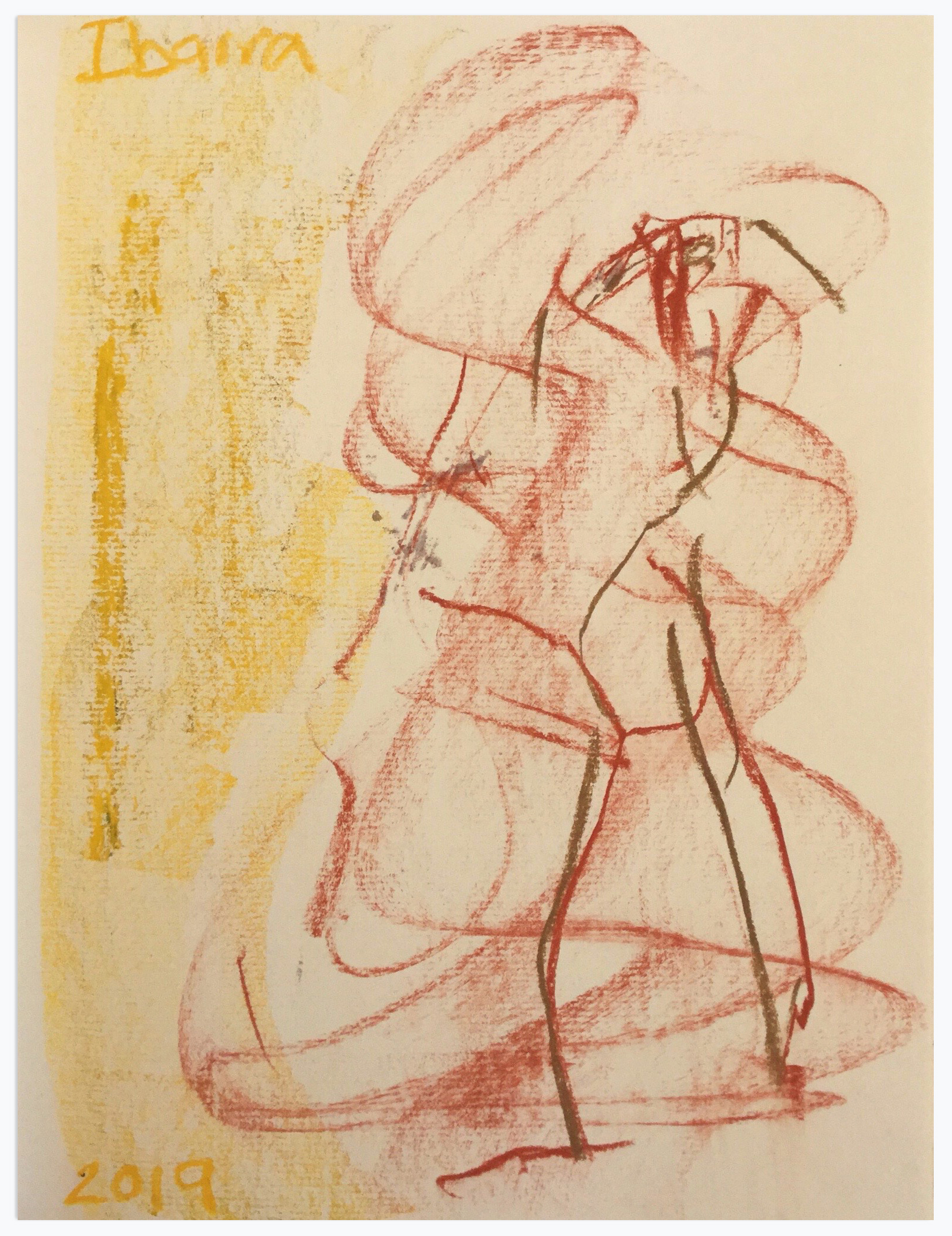 Ibarra_Untitled Figure 2019 Pigment block and charcoal on paper-a