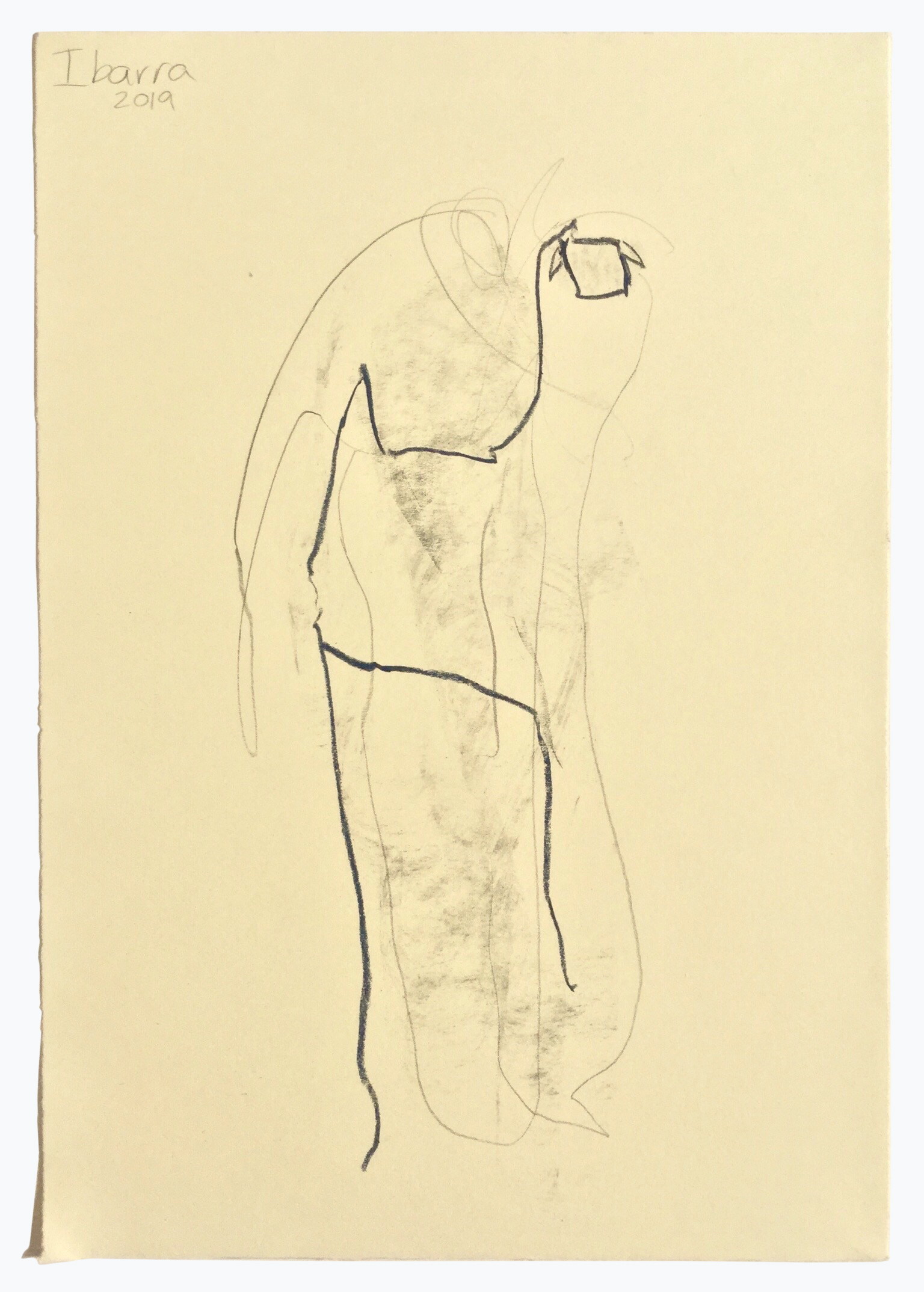 Ibarra_Untitled Stick Figure Graphite and wax pastel on paper-a